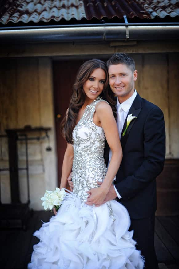 Australian cricket captain Michael Clarke has married his girlfriend Kyly Boldy in a private ceremony in the Blue Mountains.