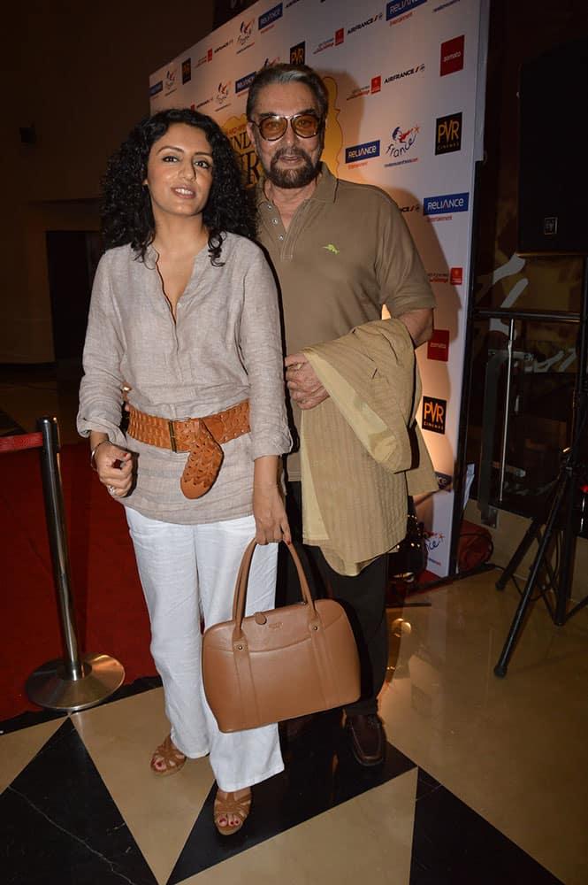 Kabir Bedi with wife Praveen Dusanj