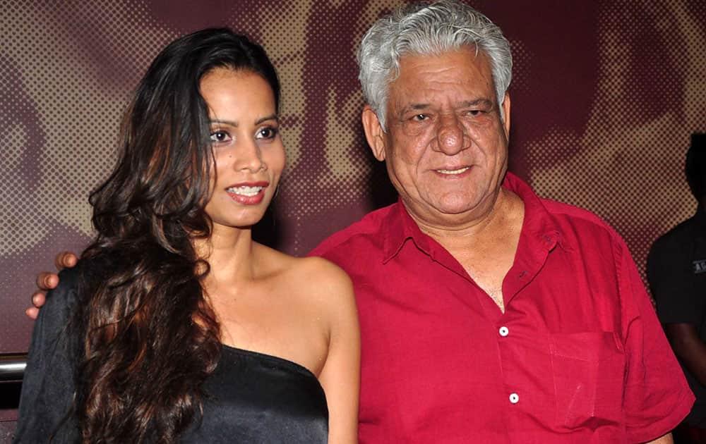 Om Puri and Pooja Pradhan