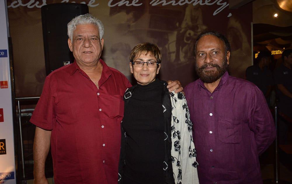 Omi Puri,Deepa Sahi & Ketan Mehta