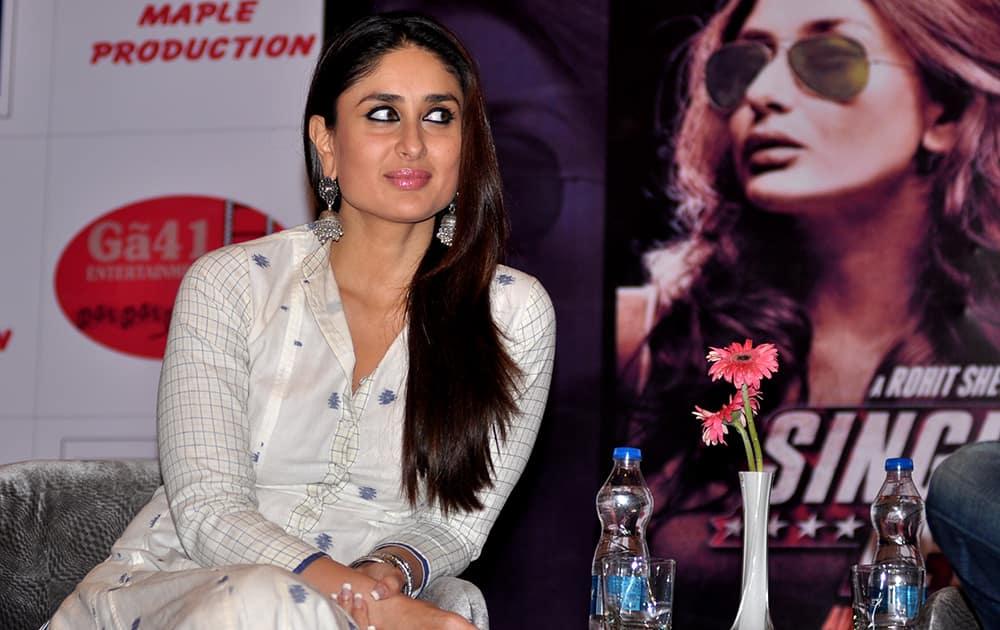 Kareena Kapoor at the promotion of her upcoming film 'Singham Returns' in Jaipur.- Dalbeer Singh Negi.DNA