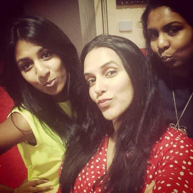 neha dhupia - Me n my Mauritian girlfriends @s.appanah and @anouchka_appanah ... #lategram - instagram