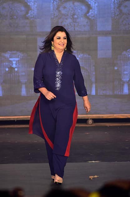 FARAH KHAN HNY TRAILER LAUNCH IN MUMBAI.