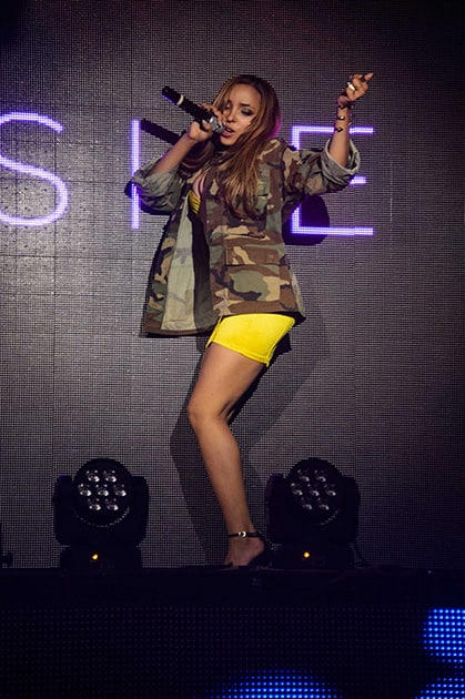 R&B songstress, Tinashe, hosts the evening at TAO Nightclub Las Vegas, and performs her hit single '2 On', in the Venetian Resort and Casino in Las Vegas.
