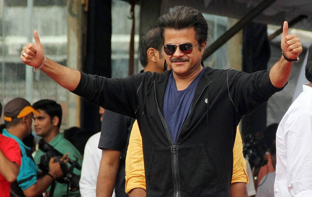 Bollywood actor Anil Kapoor during the Janmashtami celebrations in Mumbai.