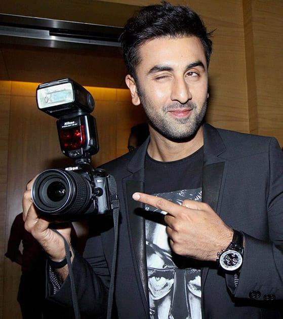 Ranbir Kapoor at a World Photography Day event in Mumbai.