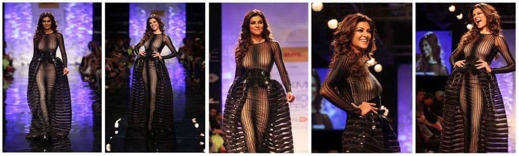 Sushmita Sen walks for Amit Aggarwal at Lakme Fashion Week 2014. -twitter