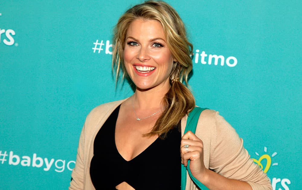 Actress Ali Larter attends a Pampers diapers promotional event at the Children's Museum of Manhattan in New York.