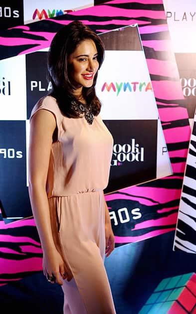 Nargis Fakhiri during a promotional event in Bengaluru.