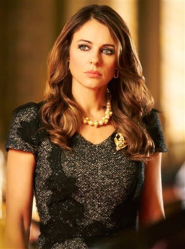 This photo mades available by E! Television shows Elizabeth Hurley as Queen Helena, the Queen of England in a new TV drama series 'The Royals' which is currently filming and being set in London.