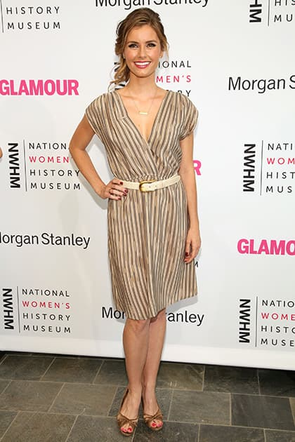 Brianna Brown arrives at the 3rd Annual Women Making History Event at the Skirball Cultural Center, in Los Angeles.