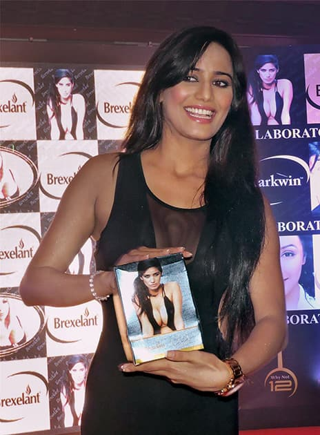 Poonam Pandey at an event in Panaji.