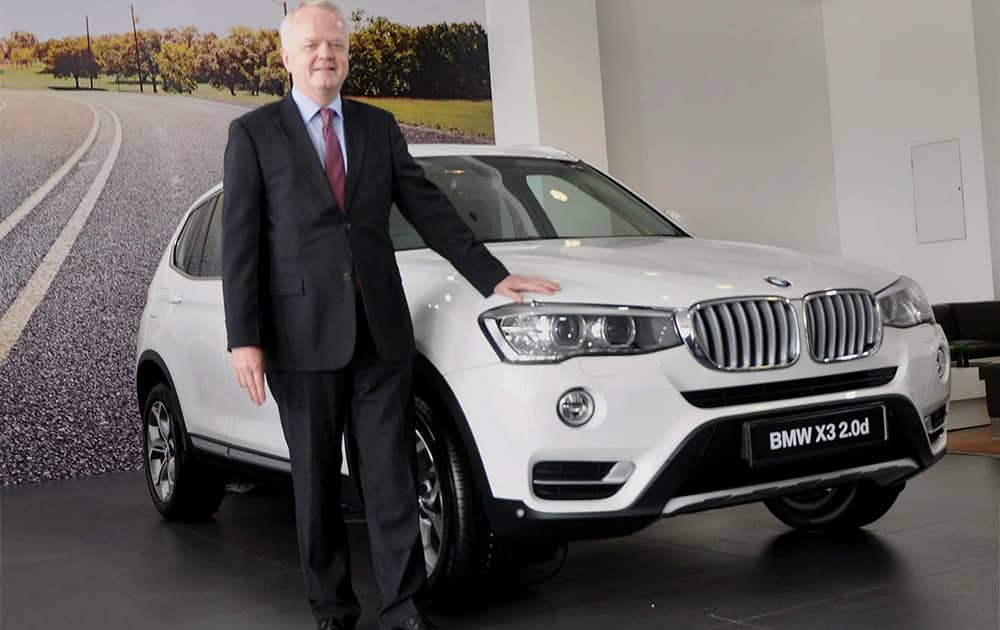 Philipp von Sahr, President, BMW Group India at the launch of the all-new BMW X3 in Noida.