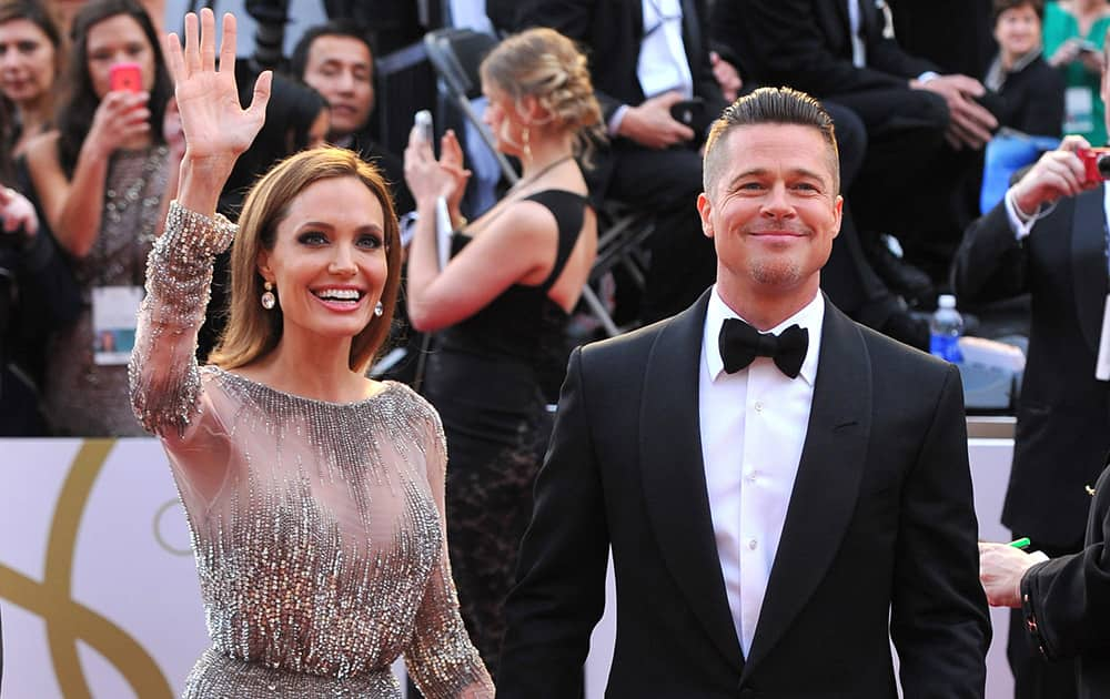 Angelina Jolie and Brad Pitt in happier times
