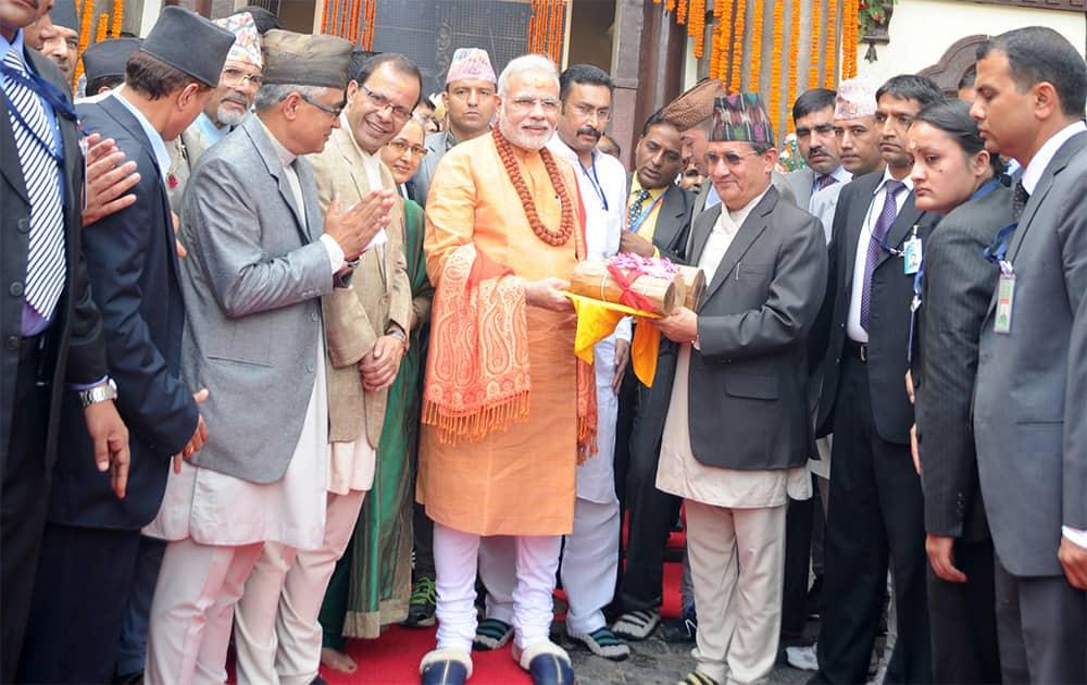 Modi offers special prayers at the Pashupatinath temple in Kathmandu on the last Shravan Monday.