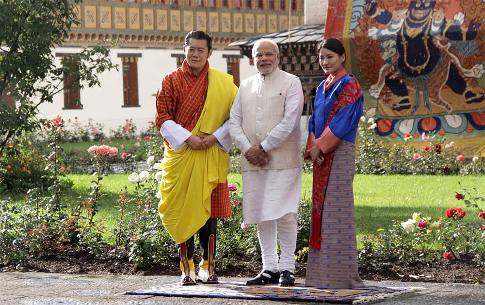 PM Modi on his first foreign trip to Bhutan.