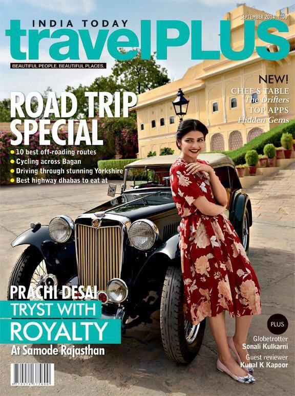 Prachi Desai - Coming up! The September issue. @1Prachidesai @ITtravelPlus. -twitter