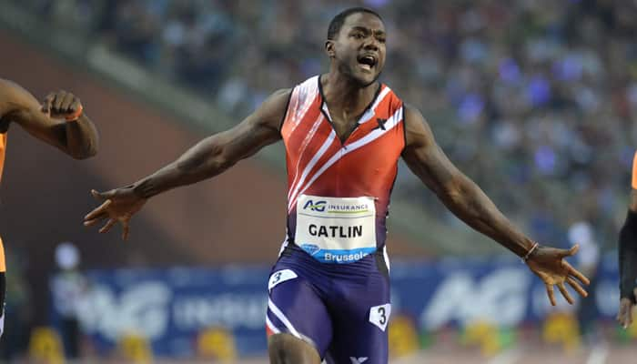 Justin Gatlin rolls back the years as tyro Barshim basks