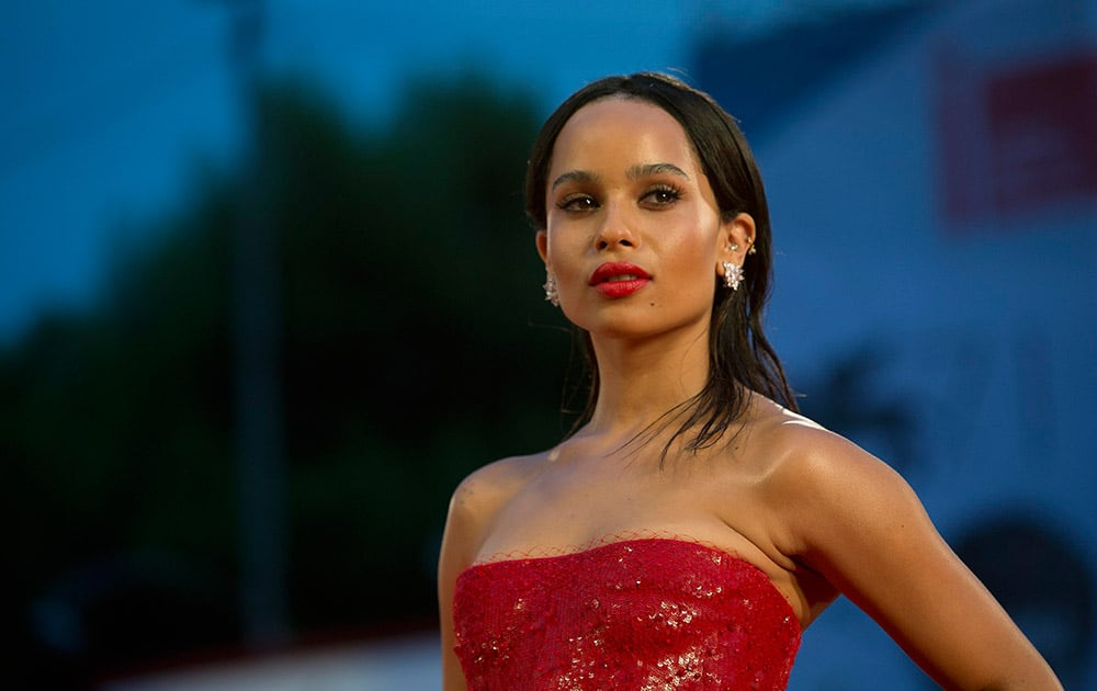 Actress Zoe Kravitz arrives for the screening of the movie Good Kill, at the 71st edition of the Venice Film Festival in Venice, Italy.