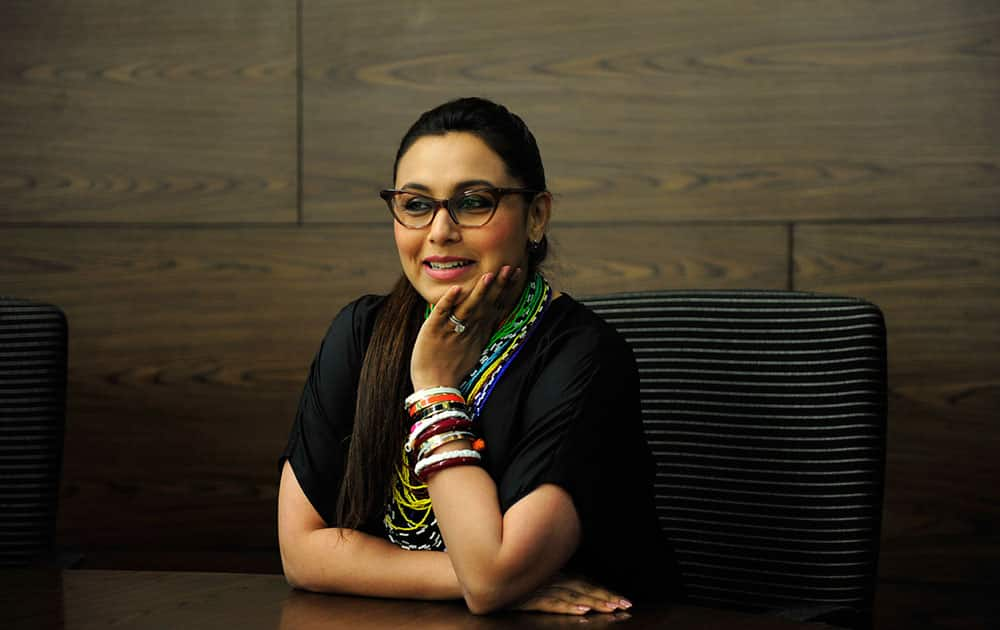 Actress Rani Mukherjee visited dna office at Elphinstone Road to promote her recently released film 'Mardaani'.- Sudharak Olwe.dna