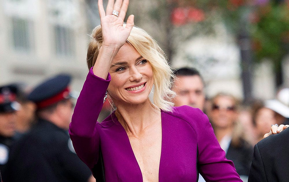 Actress Naomi Watts arrives on the red carpet for her new movie `While We're Young` during the 2014 Toronto International Film Festival.