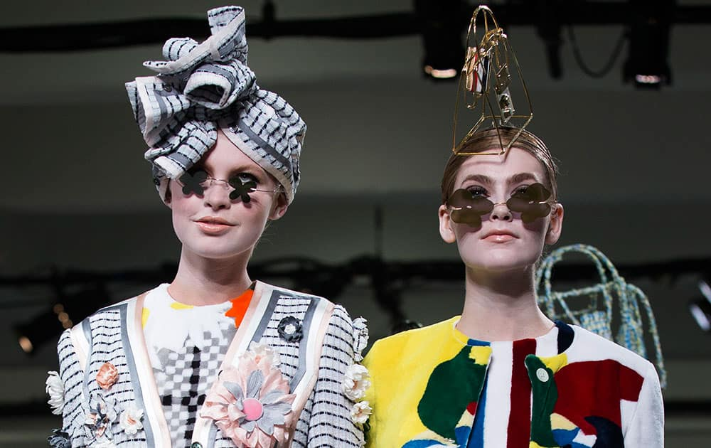 The Thom Browne Spring 2015 collection is modeled during Fashion Week.