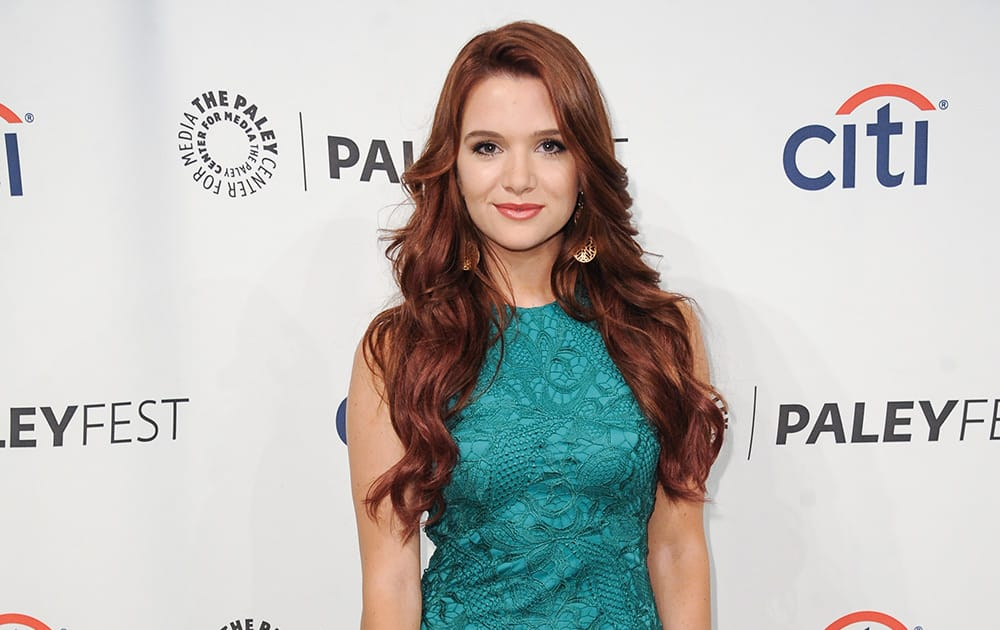Katie Stevens arrives at the 2014 PALEYFEST Fall TV Previews - MTV.