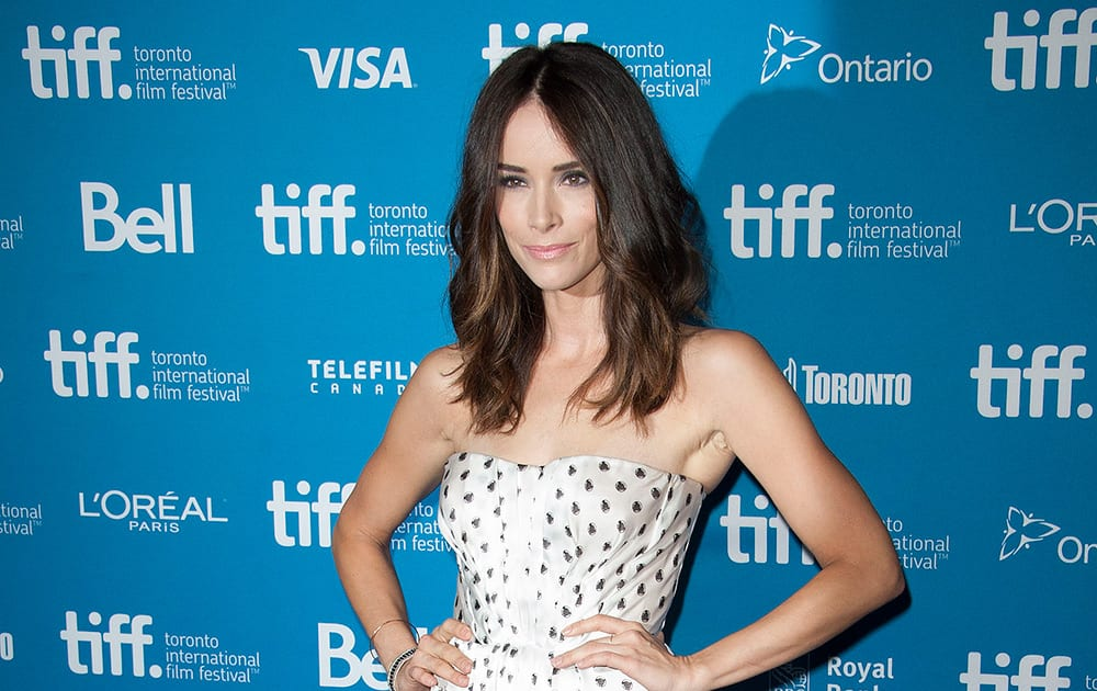 Actress Abigail Spencer is photographed at the press conference for 'The Forger' at the TIFF Bell Lightbox during the 2014 Toronto International Film Festival.