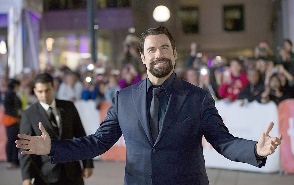 Actor John Travolta seen at the premiere of 'The Forger' at Roy Thomson Hall during the 2014 Toronto International Film Festival.