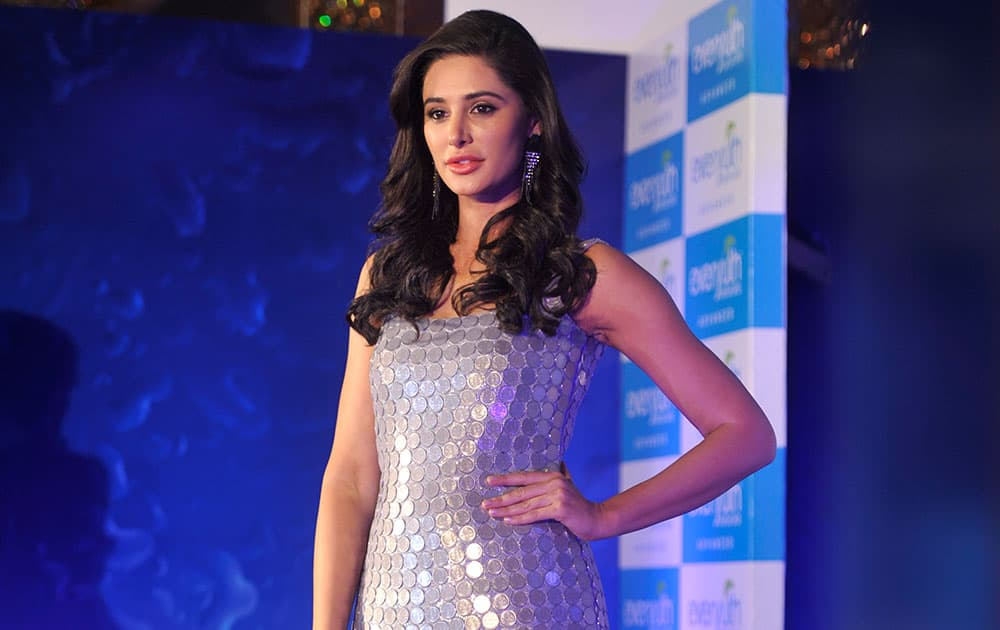 Bollywood actor Nargis Fakhri during the launch of Zydus Wellness Ltd Everyuth Naturals Face Wash in Mumbai. -dna