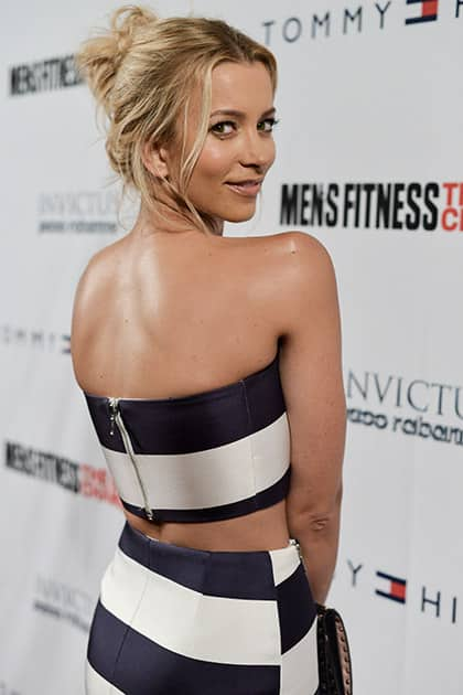 Sabina Gadecki arrives at the Men's Fitness Celebration Of their 2014 Game Changers Issue, in West Hollywood, Calif.
