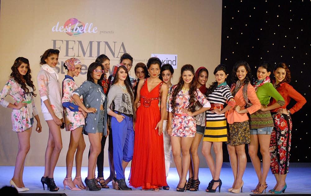 Actress Mugdha Godse at the Femina Style Diva 2014 fashion show in Pune.