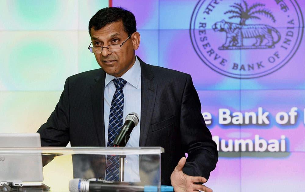 RBI governor Raghuram Rajan addresses the 8th Statistics Day conference in Mumbai.