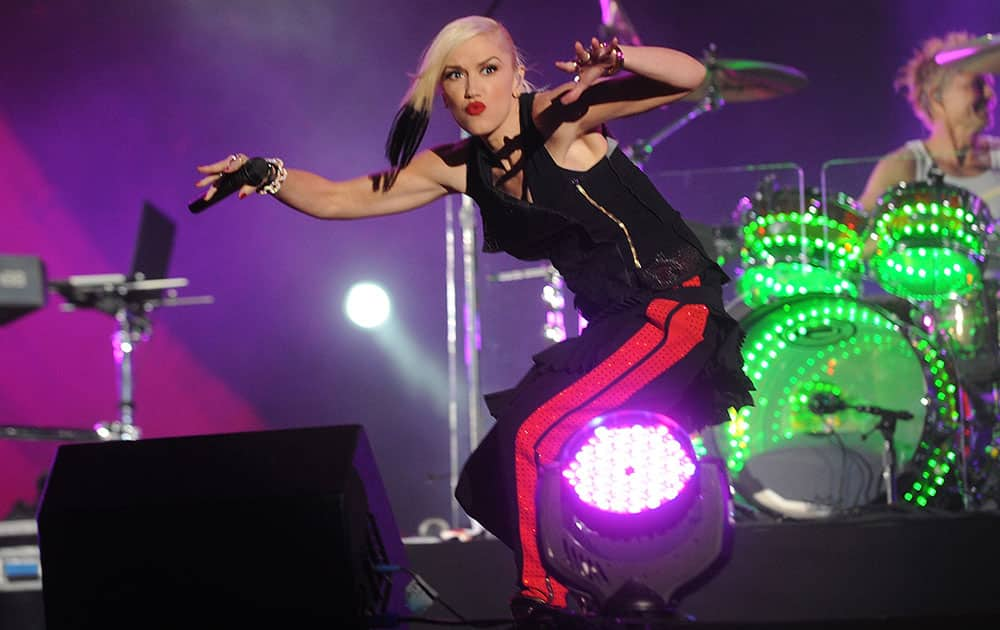 Gwen Stefani of No Doubt performs during the 3rd Global Citizen Festival at Central Park in New York.