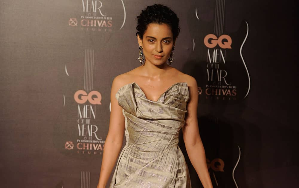 `Punk Dame: Rocking a Vivienne Westwood gown, Kangana looked spectacular` during the GQ Men of the year awards in Mumbai