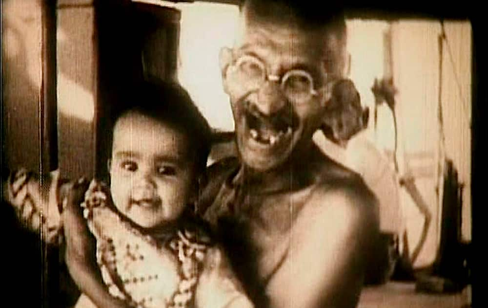 A shot from a 1941 documentary on Mahatma Gandhi by AK Chetiar, which has now been digitised by the National Gandhi Museum in Delhi.