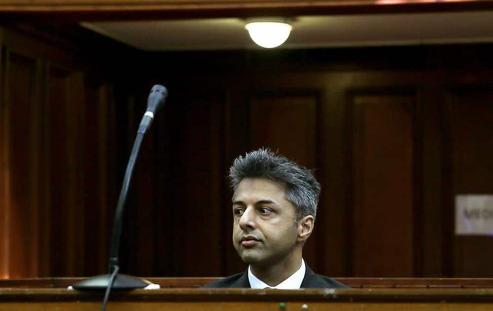British businessman Shrien Dewani appears in the high court in Cape Town, South Africa. Dewani faces charges of orchestrating the killing of his wife Anni Dewani, while they were on honeymoon in Cape Town in 2010.
