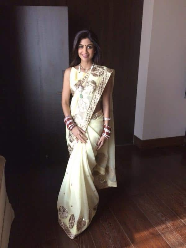 SHILPA SHETTY - Happy Karva chauth tweetos, a pic of me today only for you all -twitter.