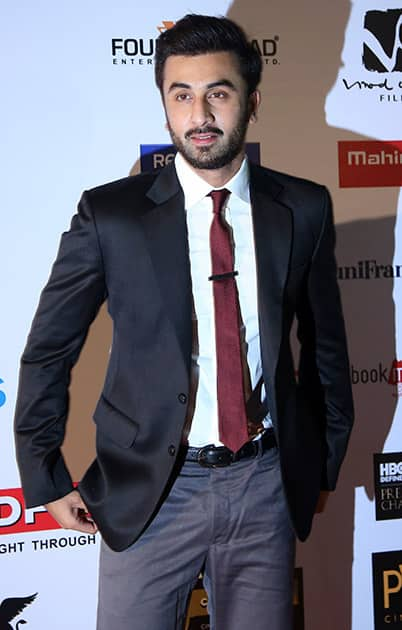 Bollywood actor Ranbir Kapoor arrives at the opening ceremony of the16th Mumbai Film Festival in Mumbai.