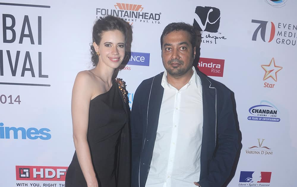 Kalki Koechlin and Anurag Kashyap at the inauguration of 16th Mumbai Film Festival in Mumbai.- Rajneesh Londhe.dna