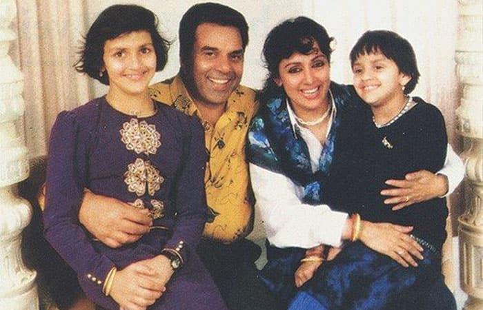 Hema Malini with family