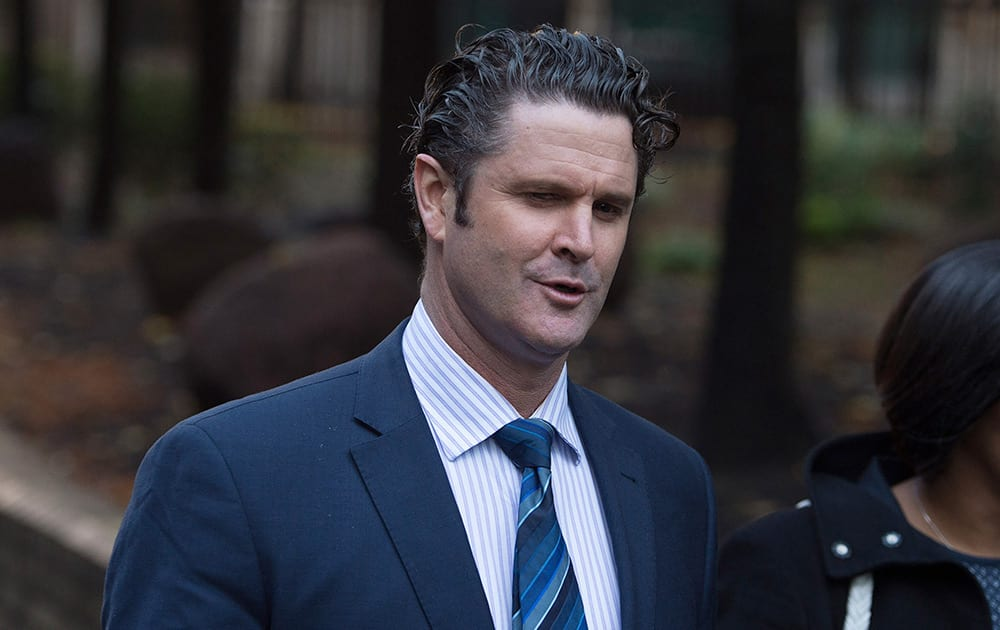 Former New Zealand cricketer Chris Cairns arrives to face a perjury charge linked to a libel action he brought in the United Kingdom in 2012 at Southwark Crown Court, London, England.