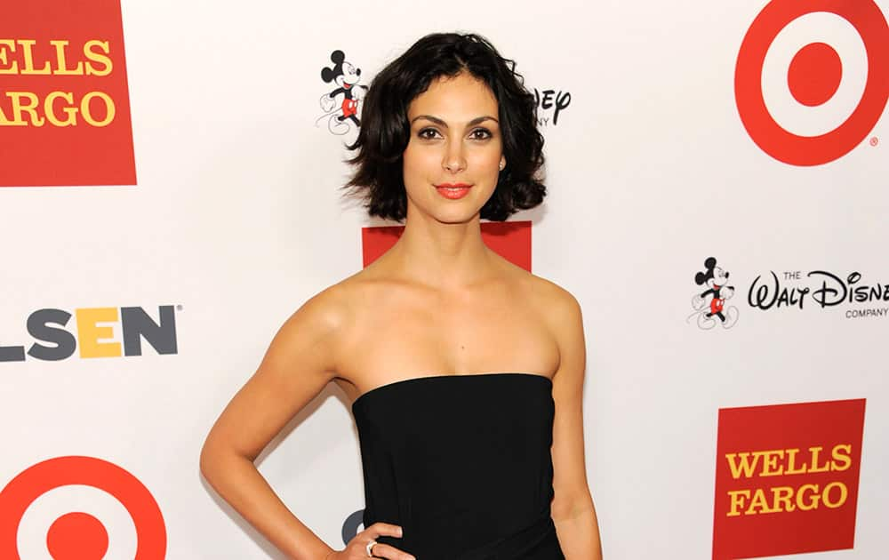 Morena Baccarin arrives at the 10th Annual GLSEN Respect Awards at the Regent Beverly Wilshire.
