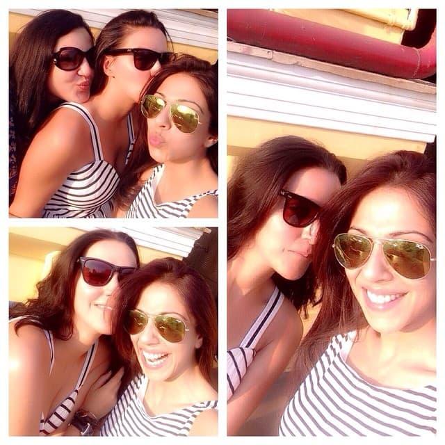 neha dhupia - #friends .... What else do u need ! My #Sarita n my @ramneekpantal -instagram