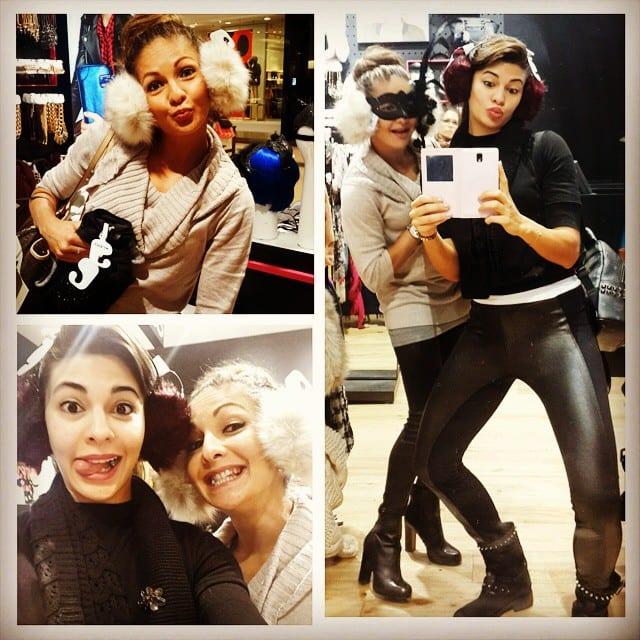 Jacqueline Fernandez - Never a dull moment shopping with #geripoo #sisterlove #ninkumpoop. -instagram