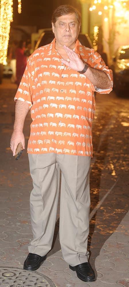 David Dhawan during the Shilpa Shetty's Diwali bash in Mumbai. -dna