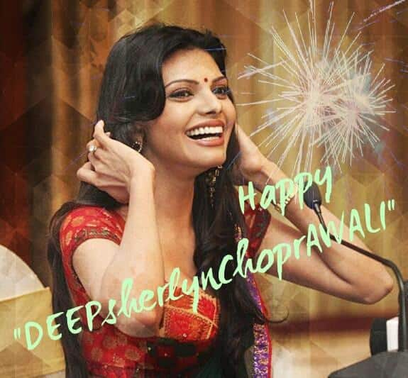 Sherlyn Chopra - Happy DEEPsherlynChoprAWLI to all ;-) -twitter