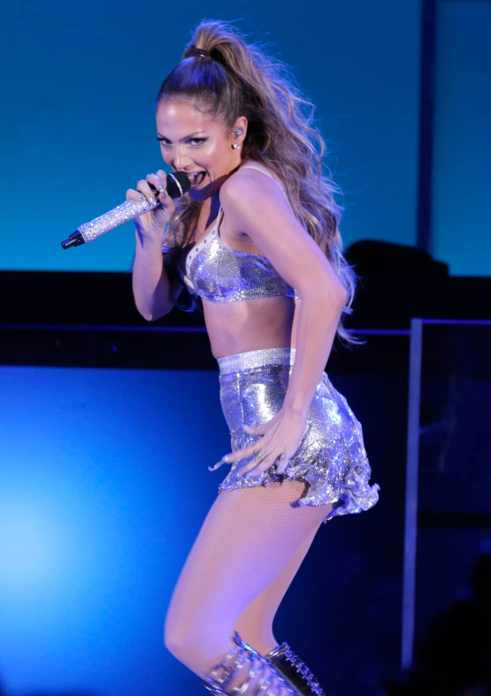 Jennifer Lopez performs on stage at CBS Radio's second annual We Can Survive concert at the Hollywood Bowl in Los Angeles.