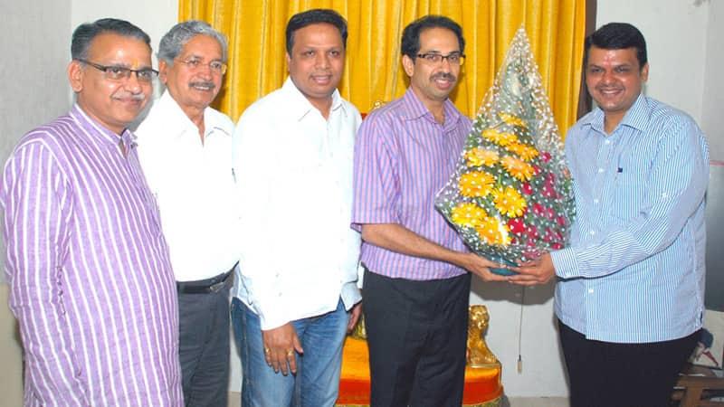 File Photo: Devendra Fadnavis With Uddhav Thackeray.