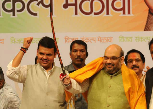 Devendra Fadnavis With Amit Shah.